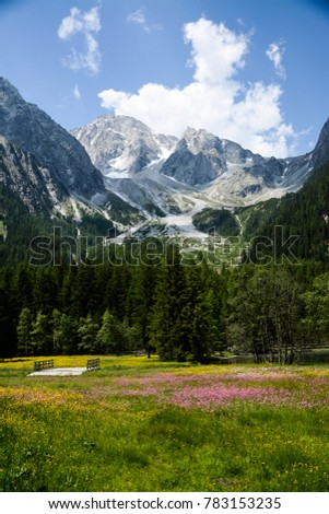 Italian dolomites in the spring #783153235