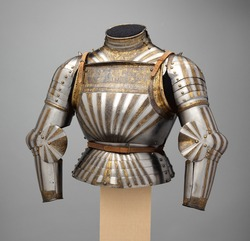 Italian, Elements of an Italian Light-Cavalry Armor, Medieval knight Armor
