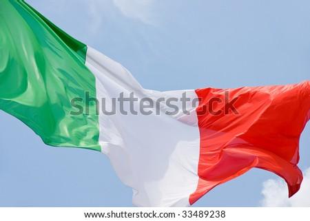 Italian flag isolated - stock photo