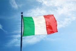 Italian flag on the mast