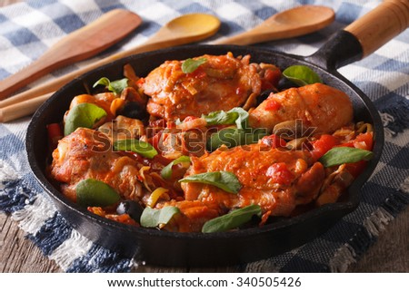 italian food  chicken with...