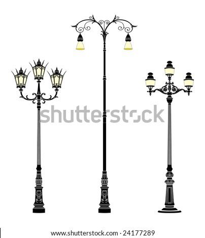 italian forged iron elegant street lamps