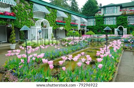italian garden, victoria, vancouver island, canada