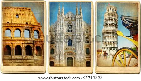 italian landmarks   vintage...