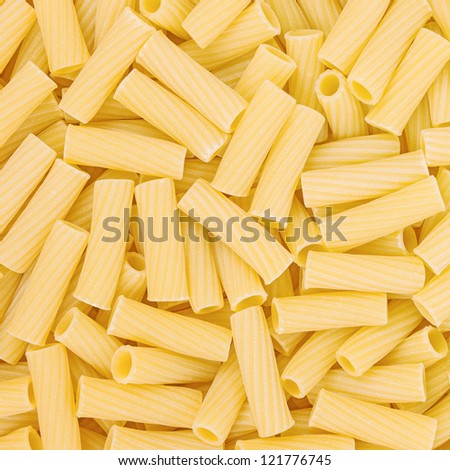 Italian Macaroni Pasta raw food background or texture close up