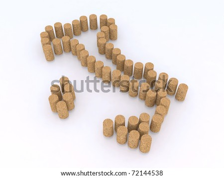 italian map with wine cork 3d illustration