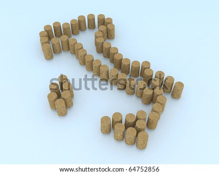 italian map with wine corks