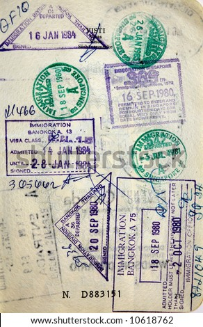 Singapore Passport Picture on Stock Photo   Italian Passport  Tailand Singapore Border Stamps