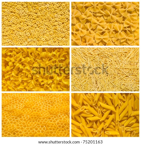 Italian pasta backgrounds collection