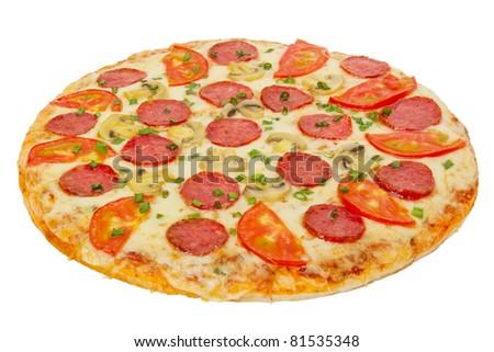 italian pizza isolated on white