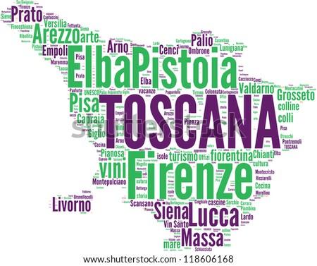 Italian regions tagcloud - Toscana