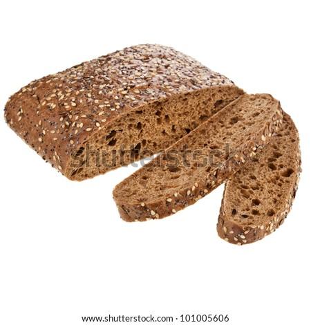 Italian rye bread with sesame seeds, flax, coriander