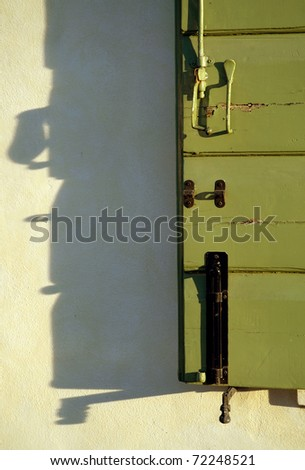 Italian shutter and shadow abstract