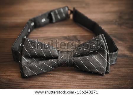italian silk bow tie in close up