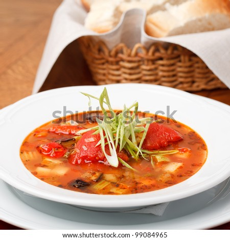 Italian soup served with bread