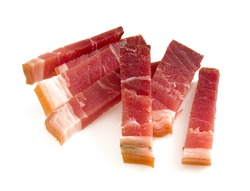 italian speck isolated on white
