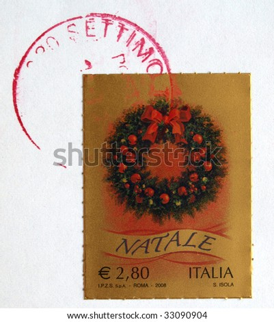 Italian stamp with postage meter from Italy