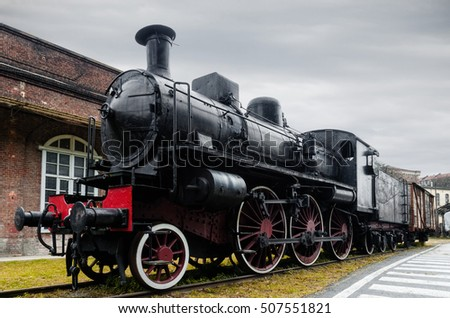 italian steam locomotive in the ...