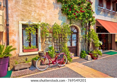 italian street old architecture ...