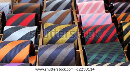 italian striped colorful silk ties for sale