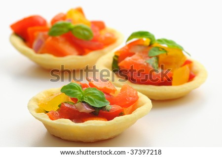Italian style appetizers in a pastry shell.