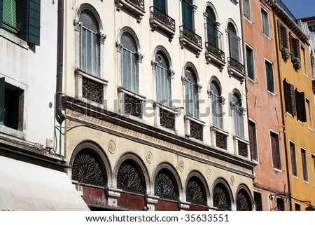 Italian style architecture in verona italy stock photo for Architecture firms in italy