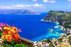 Italian summer holidays - beautiful Capri island, Campania, Italy