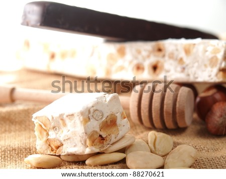 Italian torrone sweet