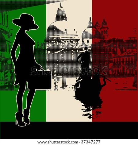 Italian Travel Bitmap Background