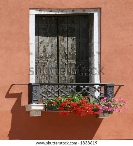 Italian Window with Flowers