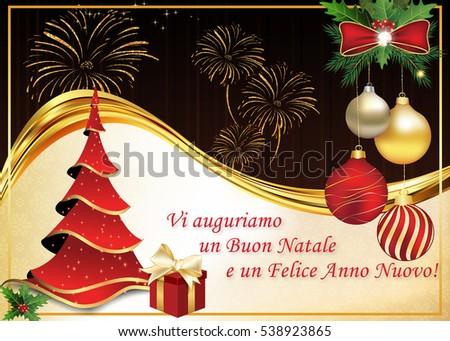 Auguri Di Buon Natale We Wish You A Merry Christmas.Shutterstock Puzzlepix