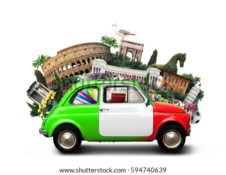 Italy and landmarks #594740639