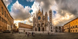Italy beauty, Cathedral di S. Maria Assunta on Duomo square in Siena, Tuscany,Toscana