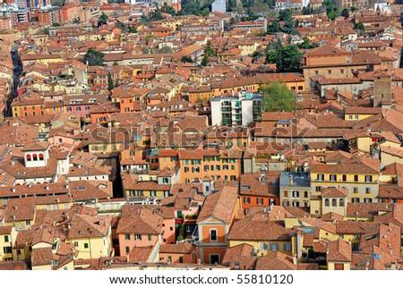 Italy, Bologna aerial view