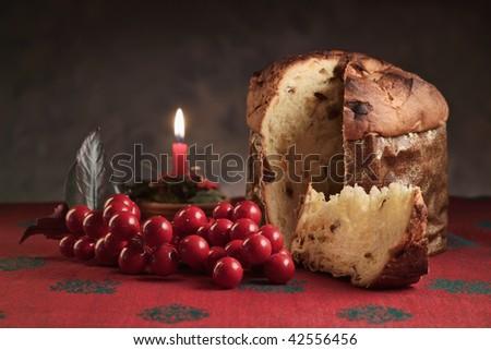 Italy, christmas, panettone dessert - stock photo