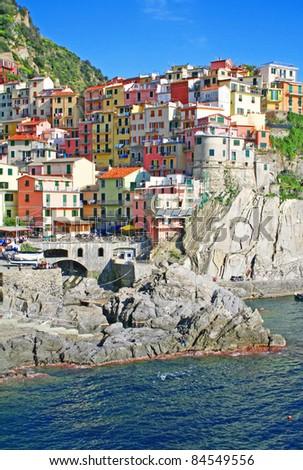 Italy. Cinque Terre region. Manarola village