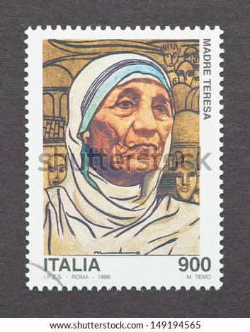 Mother Teresa Nobel Prize Winner Italy - Circa 1998: A ...