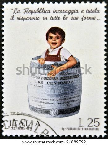 italy   circa 1974  a stamp...