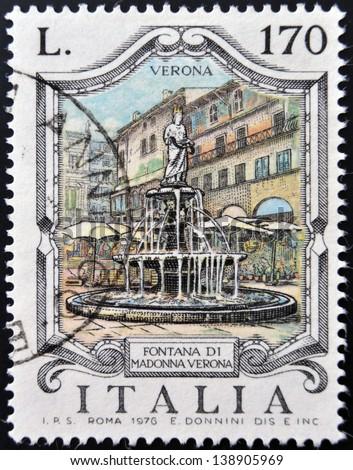 italy   circa 1976  a stamp...