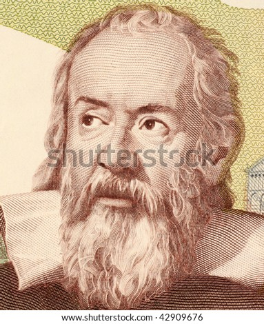 ITALY - CIRCA 1983: Galileo on 2000 Lire 1983 banknote from Italy. Italian physicist, astronomer, mathematician and philosopher that played a major role in the scientific revolution.