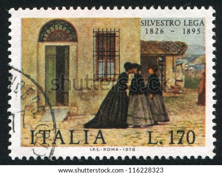 italy   circa 1976  stamp...