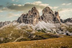 Italy, Dolomites - a wonderful landscape, the barren rocks