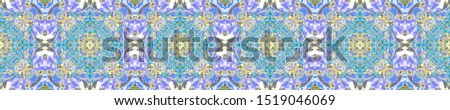 Italy Endless Pattern. Endless Tribal Fabric. Ocher Cold Motif. Ultramarine Abstract Illustration. Moroccan Active Tile. Abstract Design.