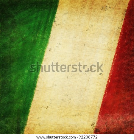 Italy flag drawing ,grunge and retro flag series