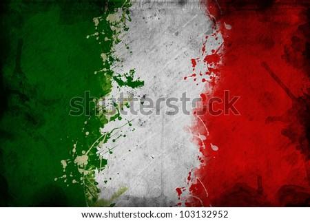 Italy flag. Grunge Italian flag.