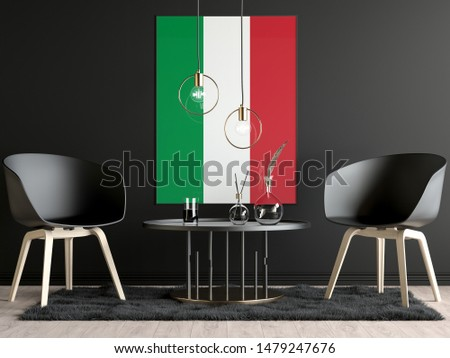 Italy Flag in Room, Italy Flag in Photo Frame #1479247676