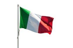 Italy flag isolated on white