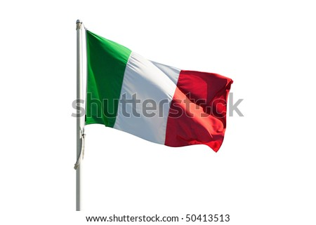 Italy flag isolated on white