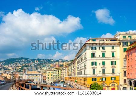 Italy, Gunuya, July 2018 - Bypass road around Genoa #1161683014