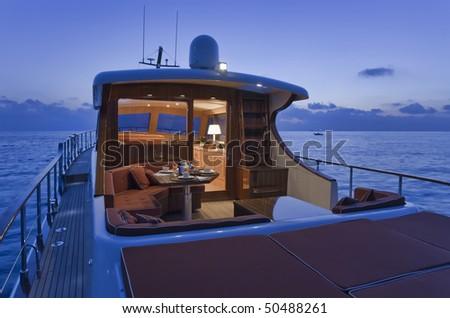 stock photo : Italy, Lazio, Fiumicino, Morgan 70' Lobster luxury yacht